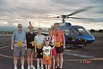 Kevin, Mary Lou, Colin, Adam, Linda and Michael after their flight.