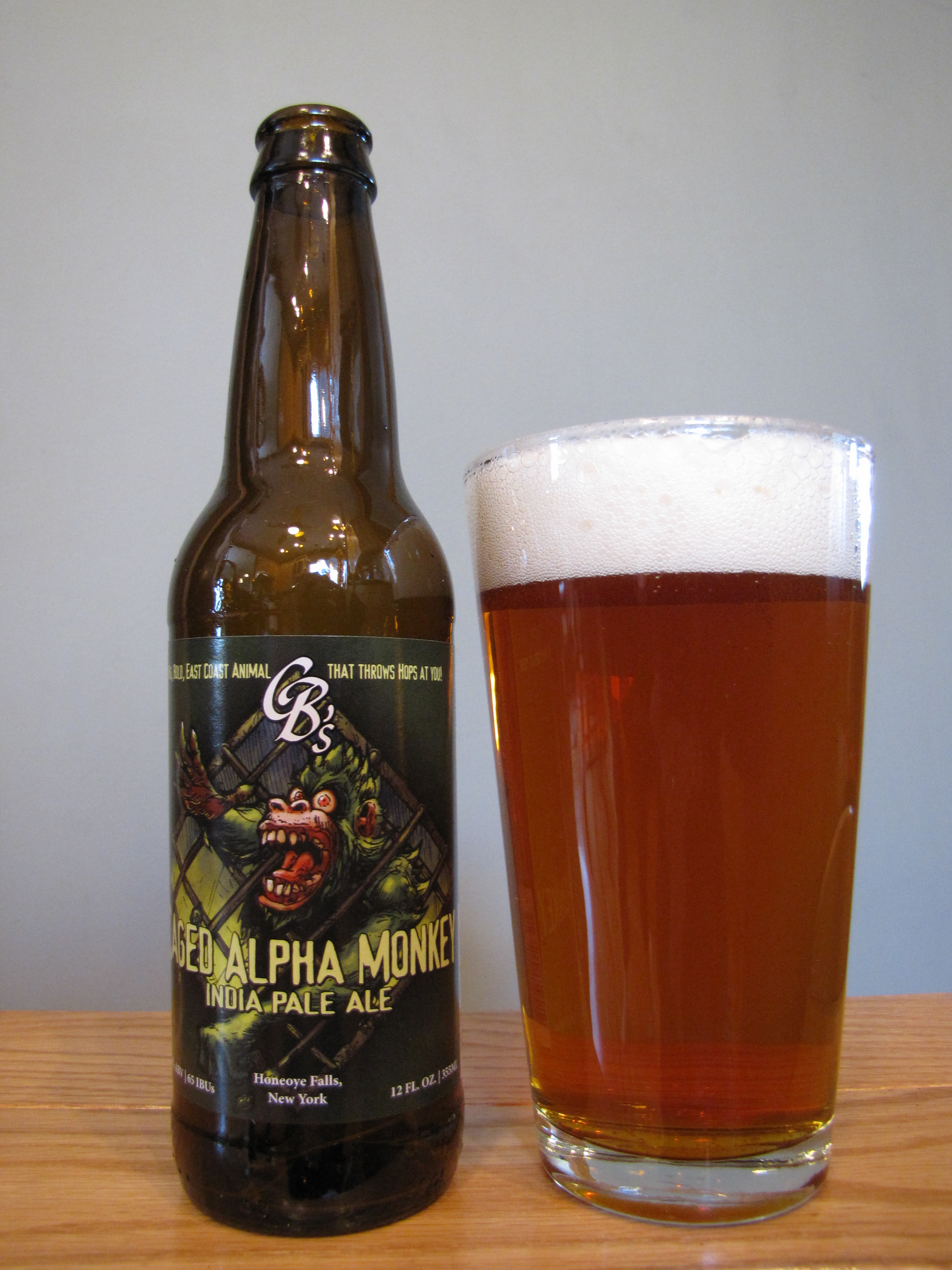 Custom Brewcrafters Caged Alpha Monkey IPA