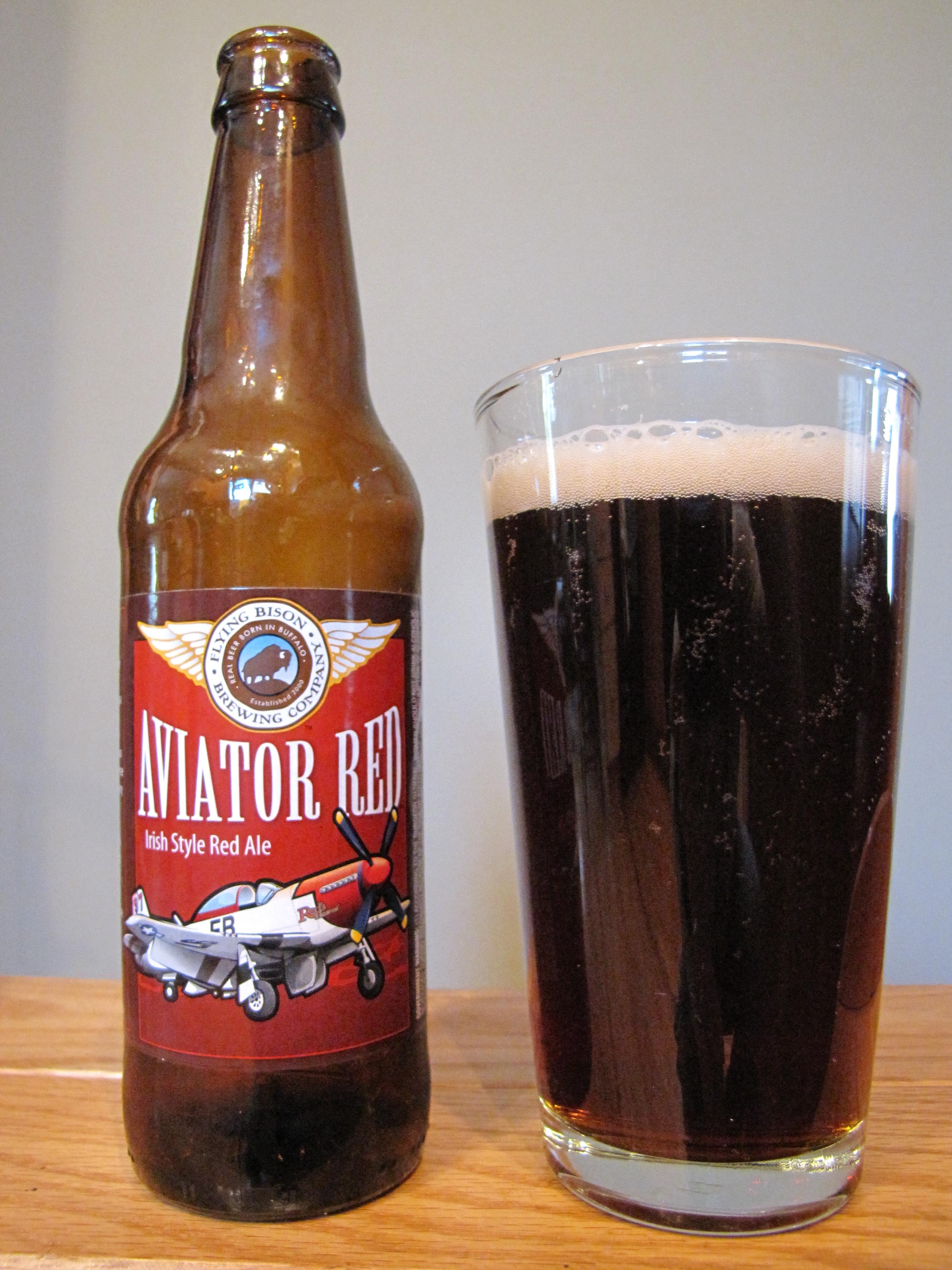 Flying Bison Aviator Red