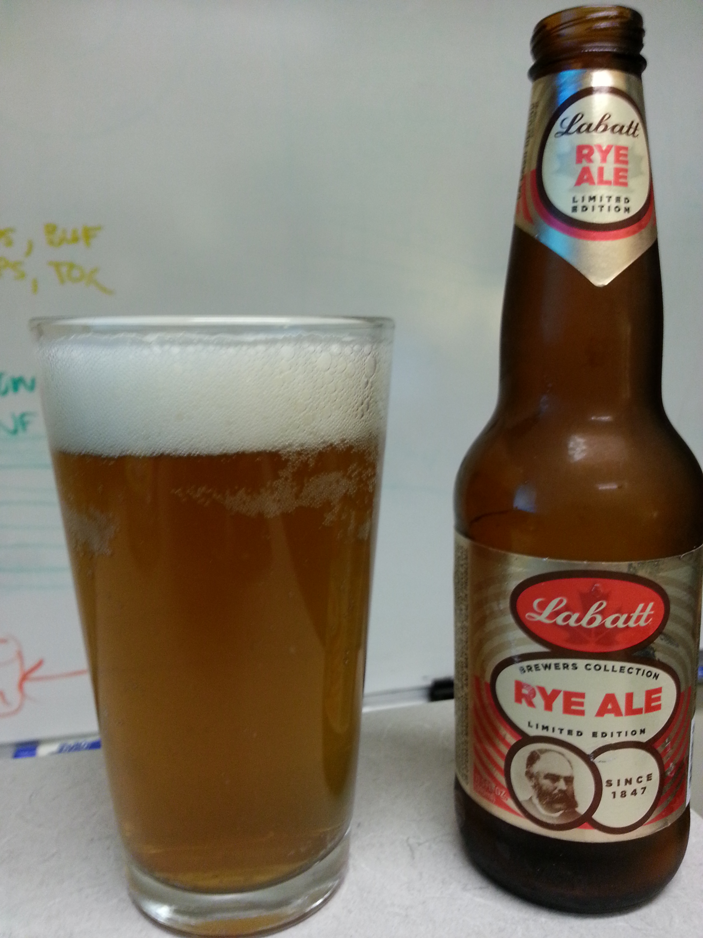 Labatt Brewers Collection Rye Ale