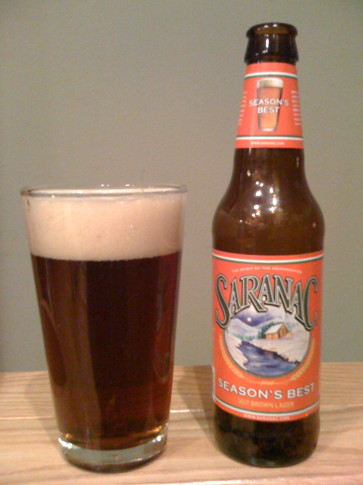 Saranac Seasons Best Nut Brown Lager
