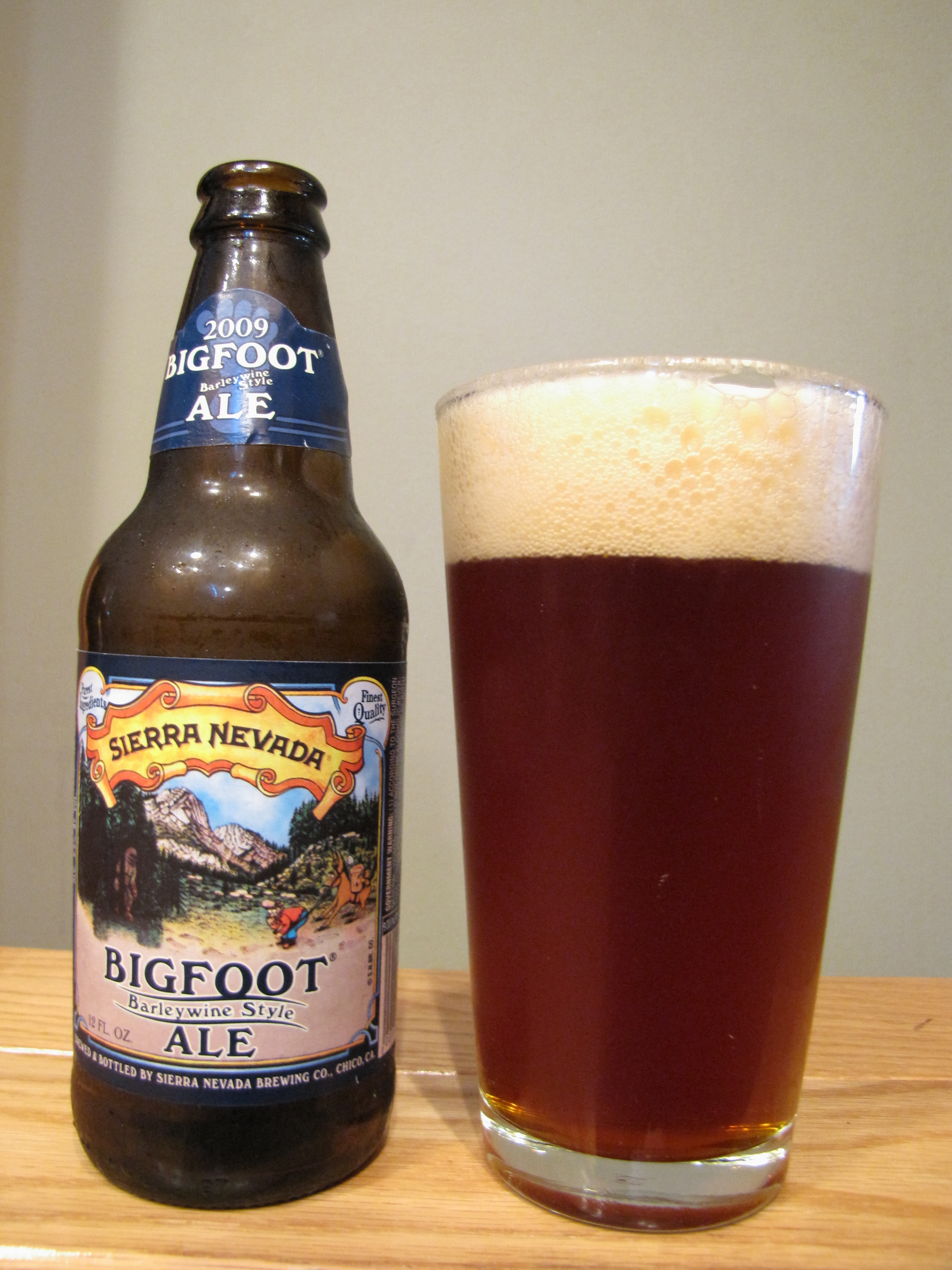 Sierra Nevada Bigfoot Barleywine Style Ale (2009)