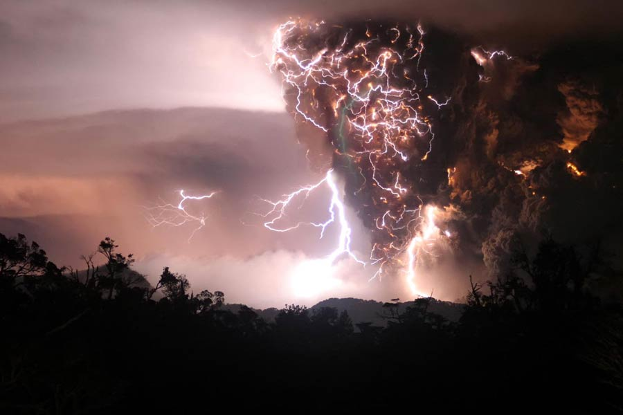 Storm Over Chaiten Volcano
