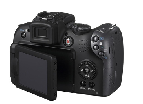 Canon PowerShot SX10 IS back view