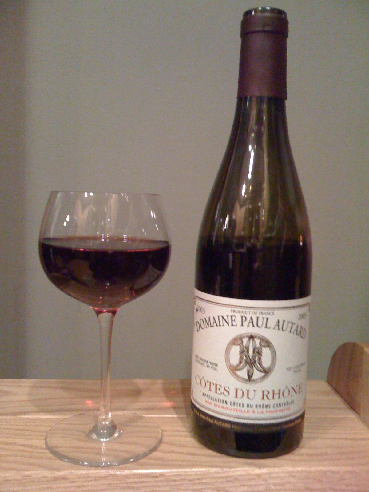 Domaine Paul Autard Côtes du Rhône (2003)