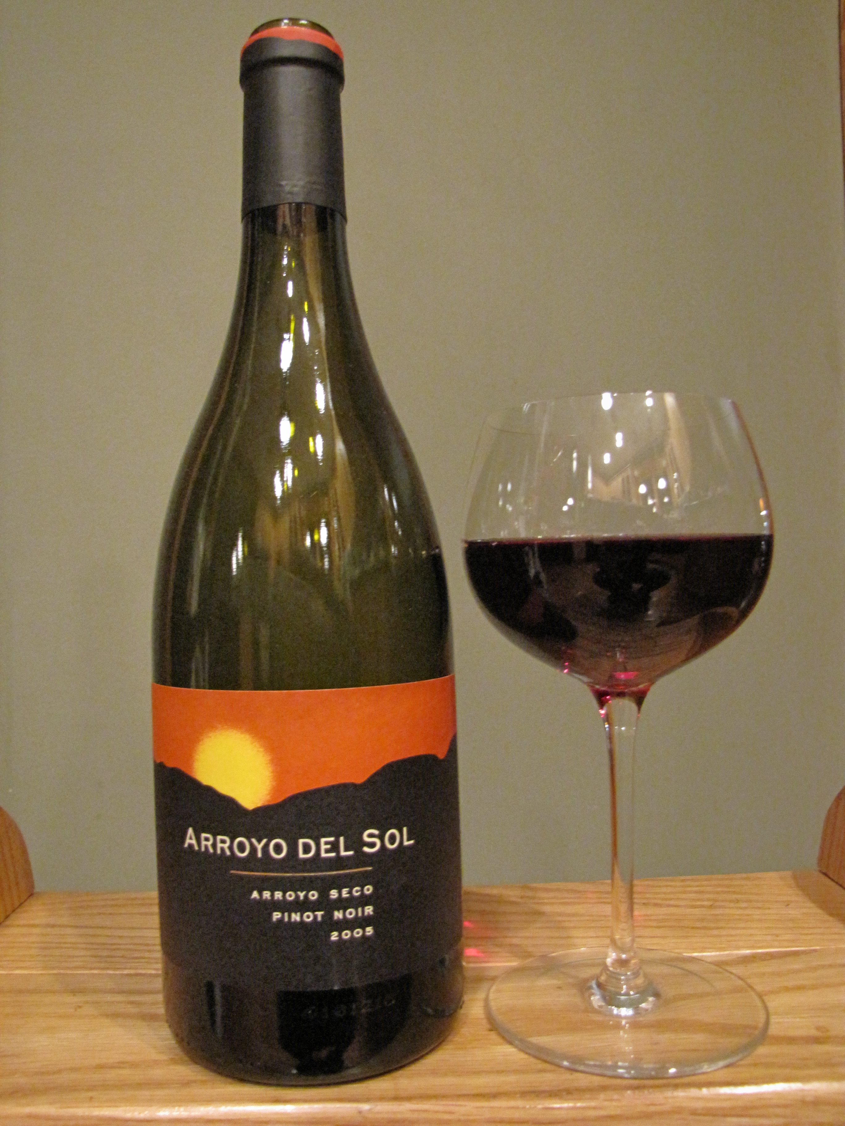 Arroyo del Sol Vineyards Pinot Noir Arroyo Seco (2005)
