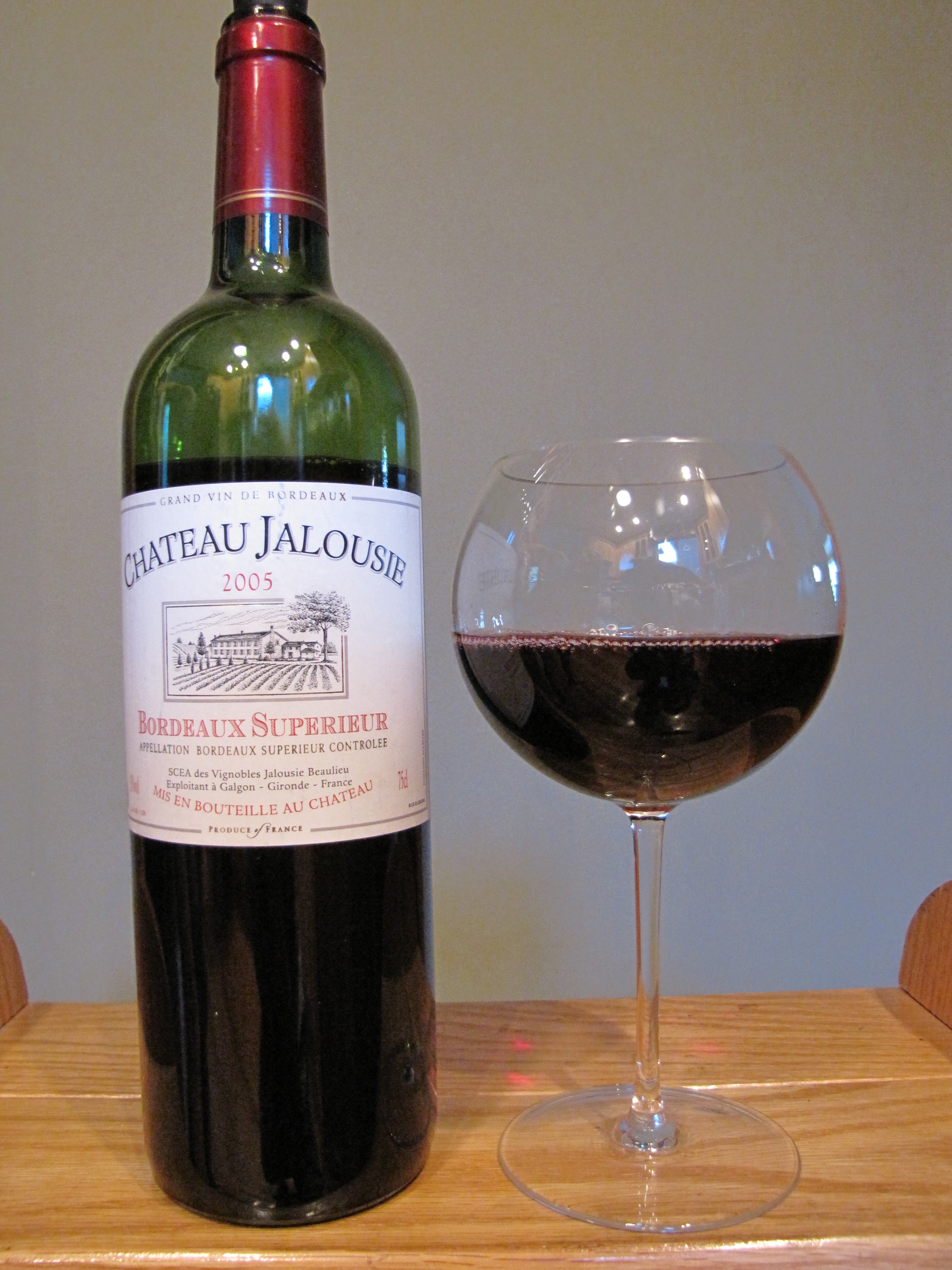 Château Jalousie Bordeaux Supérieur (2005)