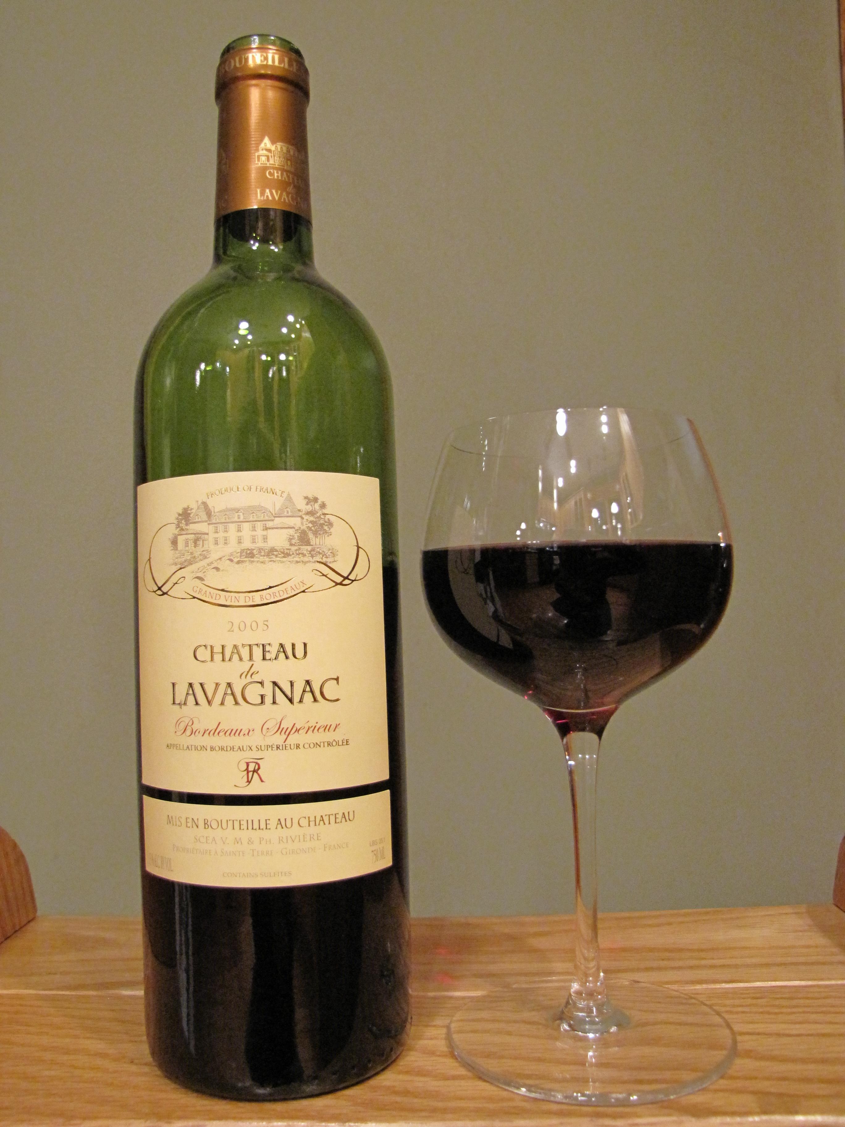 Château Lavagnac Bordeaux Supérieur (2005)
