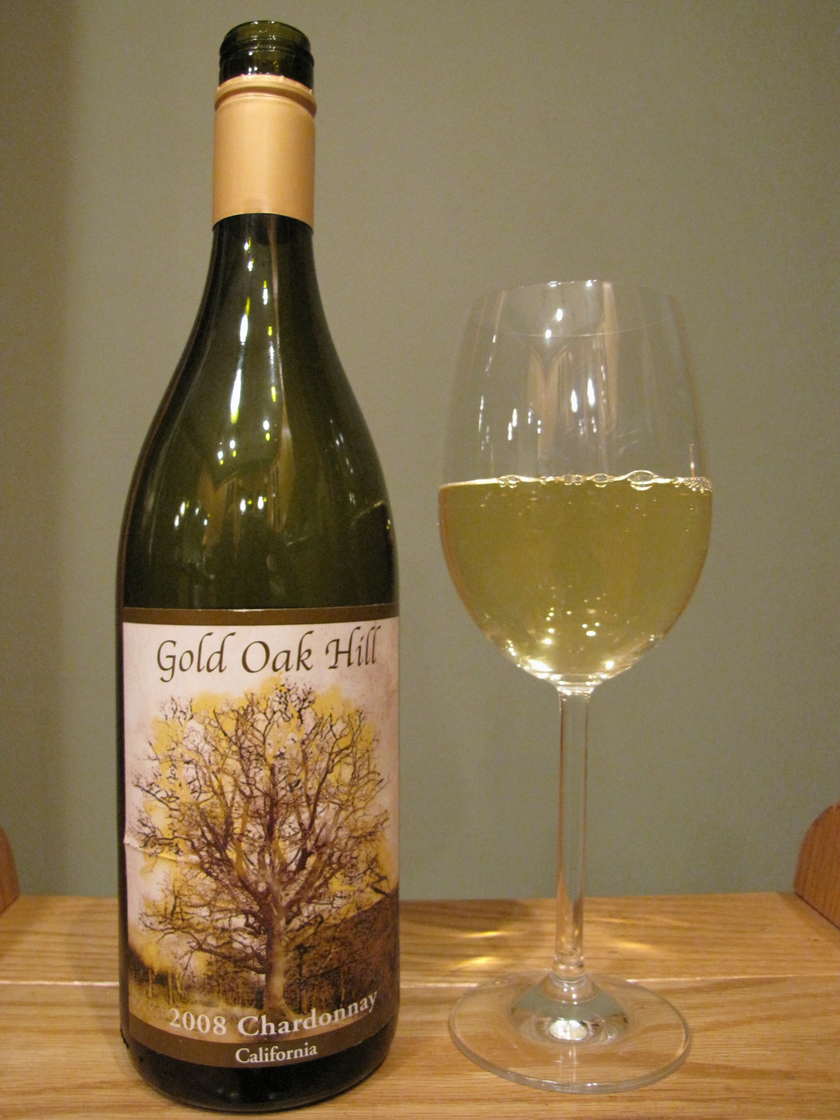 Gold Oak Hill Chardonnay (2008)