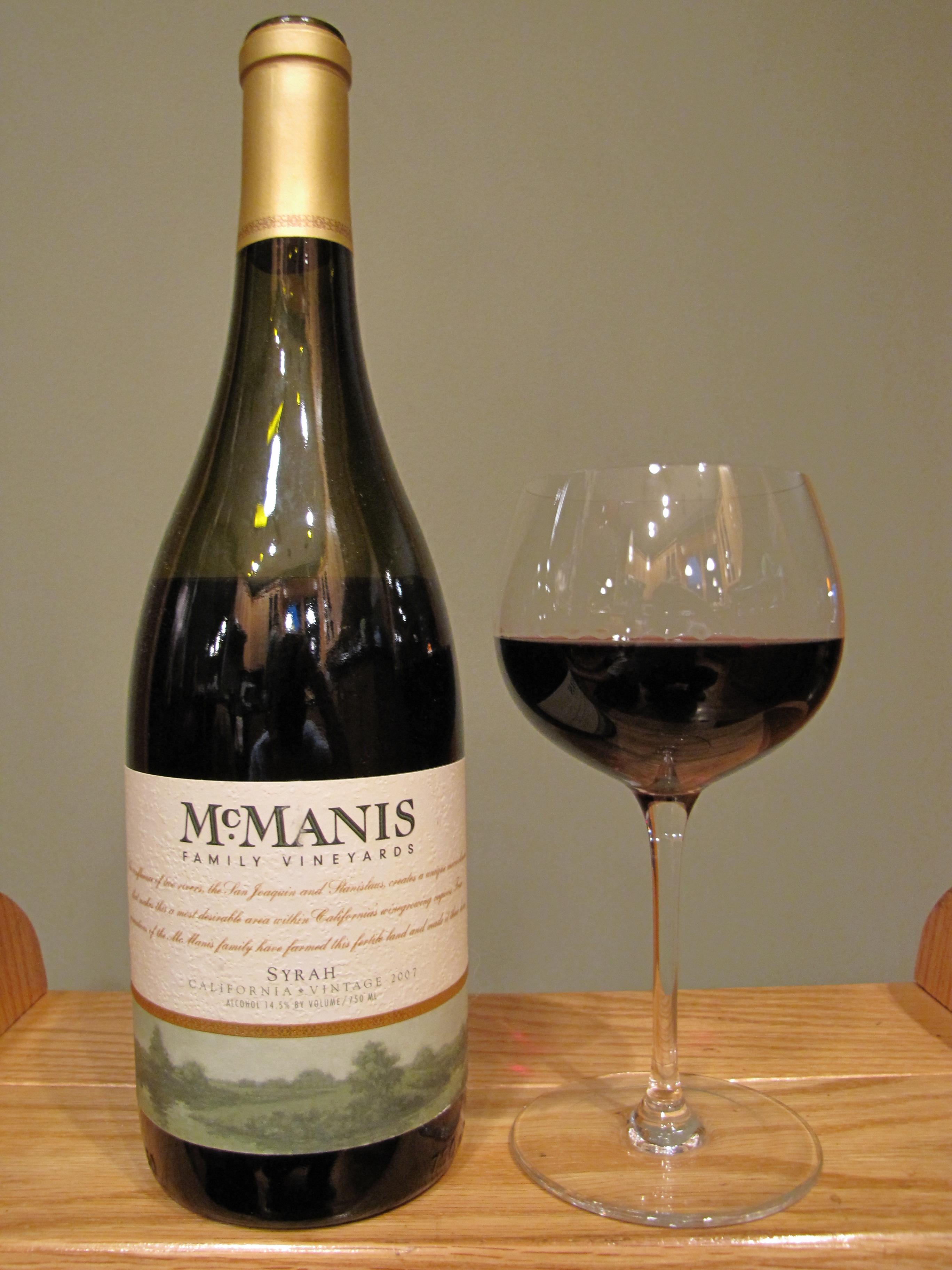 McManis Family Vineyards Syrah (2007)