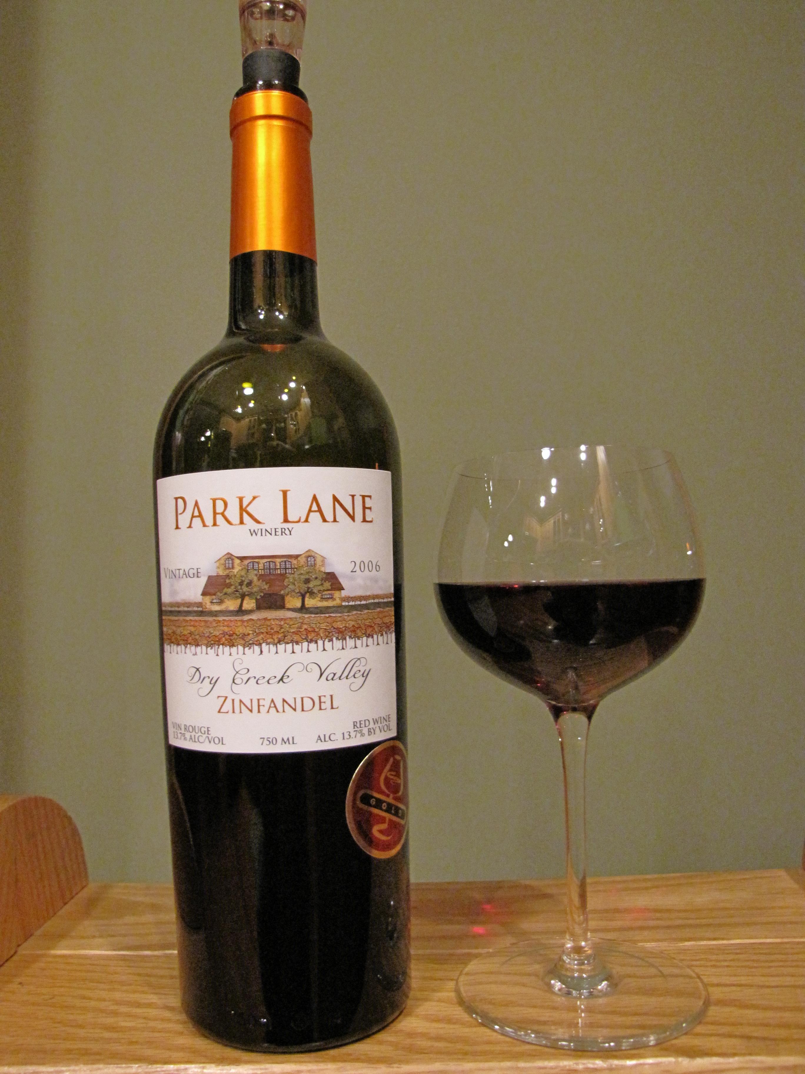 Park Lane Zinfandel (2006)