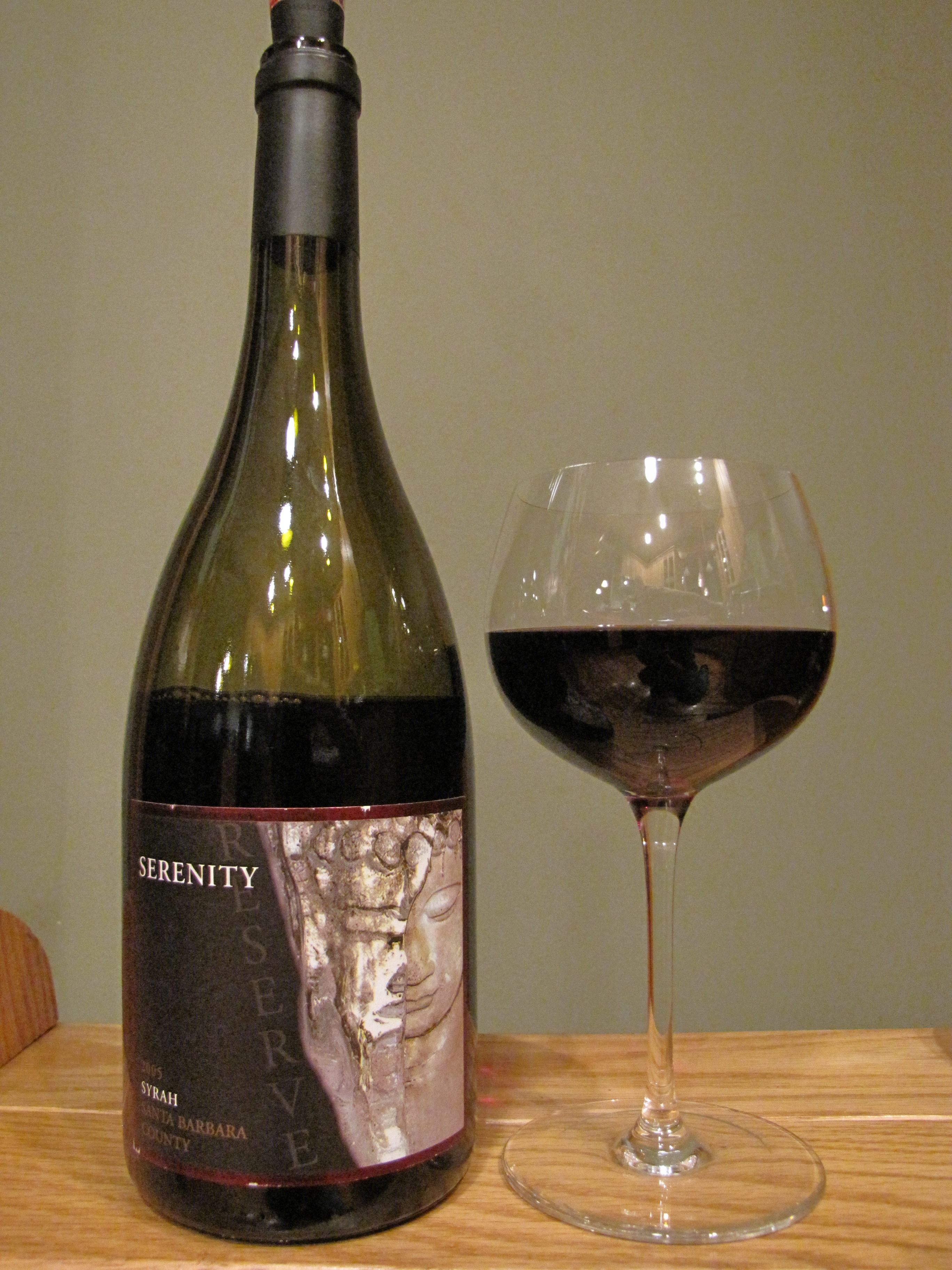 Serenity Vineyards Syrah (2005)